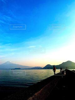 釣りをしながらみる景色の写真・画像素材[2555320]