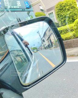車の側面鏡の写真・画像素材[3109791]