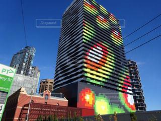 オーストラリア・メルボルンの独特な雰囲気のアパートの写真・画像素材[2544515]