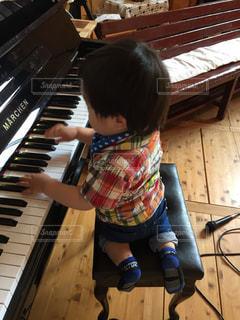 小さなピアニストの写真・画像素材[2647549]