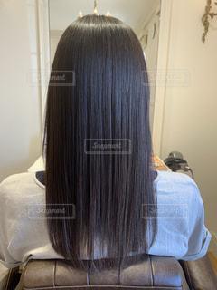 さらつや髪の写真・画像素材[2579317]