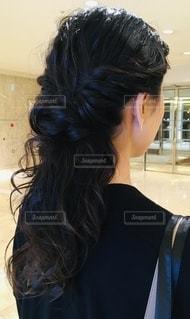 後ろ髪の写真・画像素材[2704969]