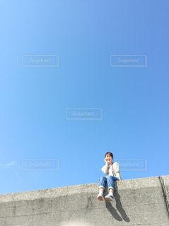 高いところから眺め中の写真・画像素材[3140811]