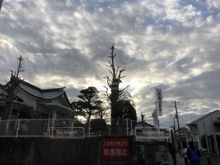 境内からの雲群の写真・画像素材[2740091]