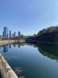 大阪城のお堀の写真・画像素材[3065188]