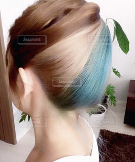 自分の髪の写真・画像素材[2602146]