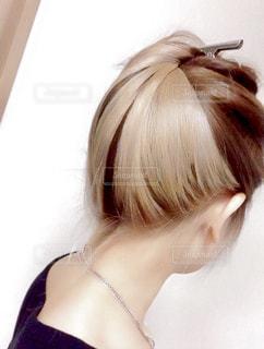 自分の髪の写真・画像素材[2602173]