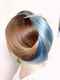 自分の髪の写真・画像素材[2602203]