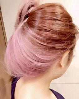 自分の髪の写真・画像素材[2602212]
