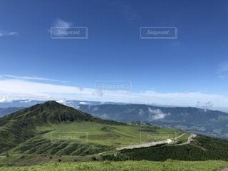 杵島岳から望む草千里の写真・画像素材[2669180]