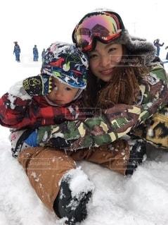 はじめての雪山の写真・画像素材[2570702]