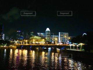 シンガポールの夜景の写真・画像素材[2562205]