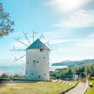 風車の写真・画像素材[4272761]