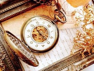 時計の側面にある時計の写真・画像素材[2842219]