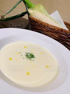 ホワイトコーンの自家製スープの写真・画像素材[2591647]