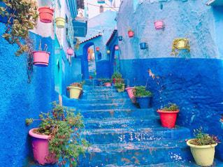 【モロッコ】シャウエンの街並みの写真・画像素材[2604668]