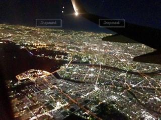 上空からの東京の夜景の写真・画像素材[2611940]