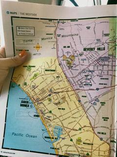 LAの地図の写真・画像素材[2615712]