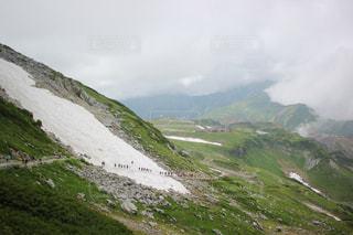 立山の万年雪の写真・画像素材[2676695]