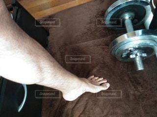 足の筋肉と体毛の写真・画像素材[2712667]