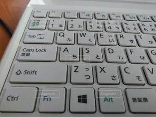 コンピュータのキーボードをクローズアップするの写真・画像素材[2720230]