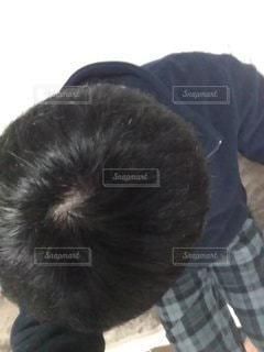 頭上からのつむじの写真・画像素材[2798291]