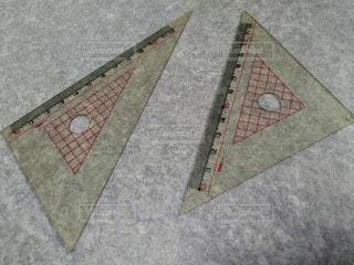 三角定規の写真・画像素材[2872191]