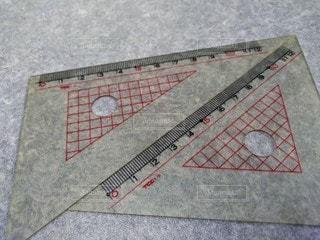 三角定規の写真・画像素材[2872194]
