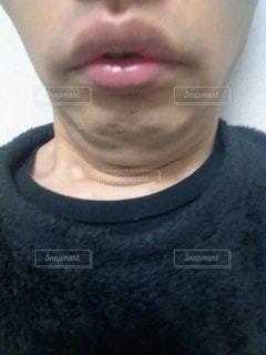 二重顎の写真・画像素材[2910740]