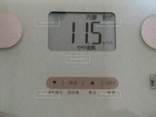 体重計のクローズアップの写真・画像素材[2910794]
