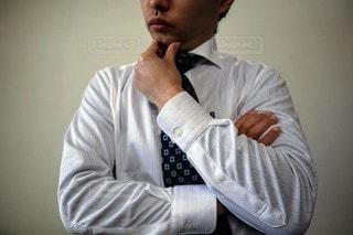 ネクタイをしている男の写真・画像素材[3057597]