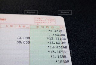 給料前のクローズアップの写真・画像素材[3258931]