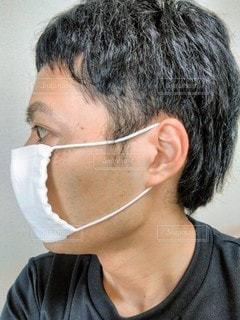 マスク男のクローズアップの写真・画像素材[3297187]