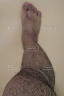 男性の右足のクローズアップの写真・画像素材[4067327]