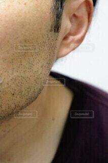 剛毛な髭の写真・画像素材[4173737]
