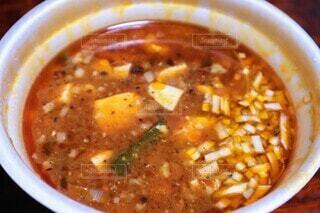 麻婆麺のスープの写真・画像素材[4718028]
