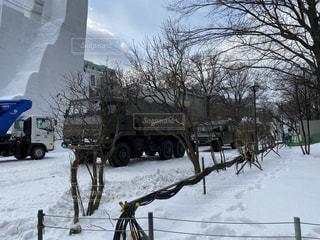 雪祭り2020年.前日の写真・画像素材[2920062]