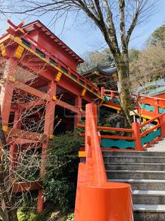 オレンジ色の建物のクローズアップの写真・画像素材[3018513]