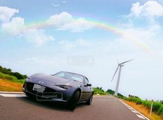 快晴のドライブの写真・画像素材[2916435]