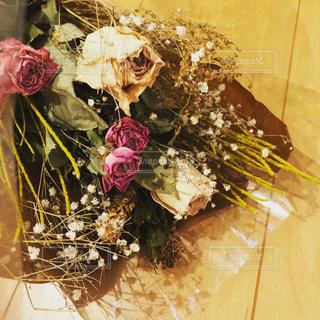 ドライフラワーの花束の写真・画像素材[2610649]
