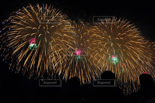 空に花火の写真・画像素材[1028618]