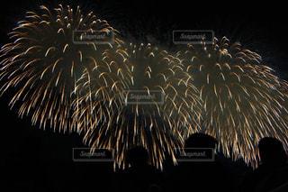 空に花火の写真・画像素材[1046208]