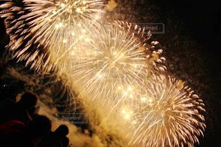 空に花火の写真・画像素材[1065439]