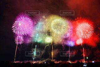 空に花火の写真・画像素材[1121812]
