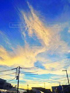 空には雲のグループの写真・画像素材[1278086]