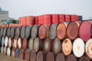 樽のクローズアップの写真・画像素材[2719910]