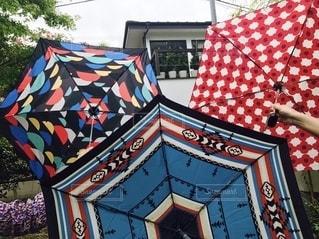 カラフルな傘の写真・画像素材[2620970]