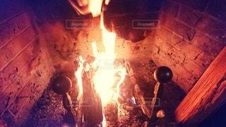 暖炉の写真・画像素材[2848337]