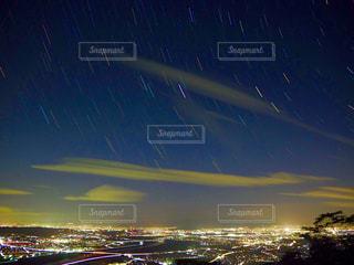 星降る夜の写真・画像素材[2622037]