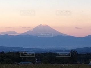 富士山の夕景色の写真・画像素材[2626623]